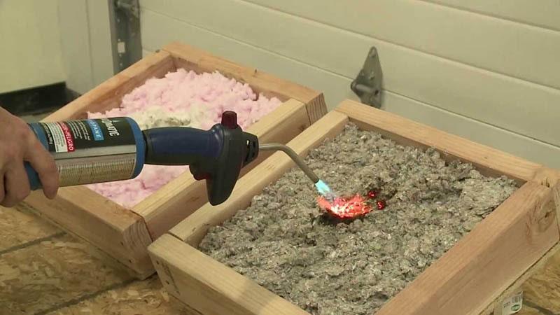 عملکرد پشم سنگ در برابر آتش